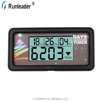 Runleader Digital LCD Back-light Days Countdown Timer For Retirement Wedding Vacation Christmas Event Classroom