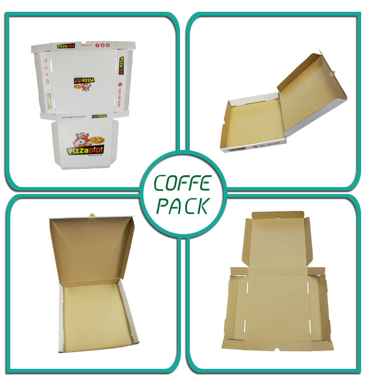CUSTOMIZED DESIGN AND PRINTABLE  RECYCLABLE WHOLESALE CORRUGATED PIZZA BOX