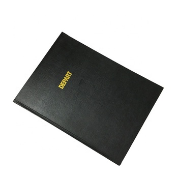 Black Cheap Linen Book Dart Note Book Agenda Custom Printed Hardcover Book
