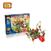 LOZ DIY educational plastic robotic grasshopper block toy