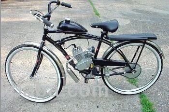 26 Inch Gasoline Bicycle Engine Kit 2 Stroke 80cc Motorized Bike