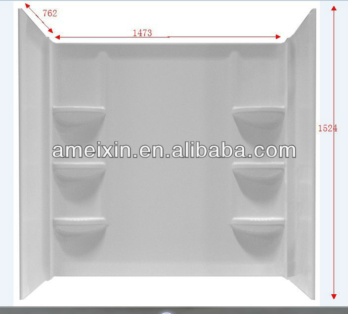 Fashion OEM Bathtub Wall Surround