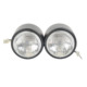 Matte Black Dual Front Headlight For Streetfighter Cafe Racer Naked Motorcycle