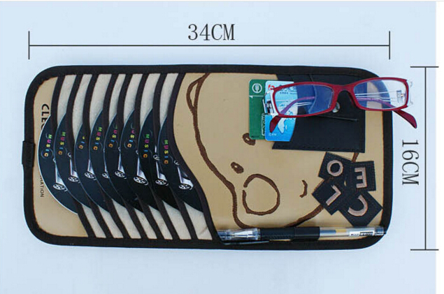 Multi function Bear car CD clip Glasses clip Pen clip on sun shade cover Multi functional