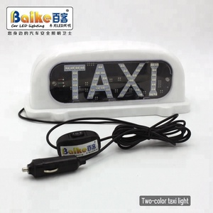 Double Color LED Light Roof Top TAXI Advertising Sign