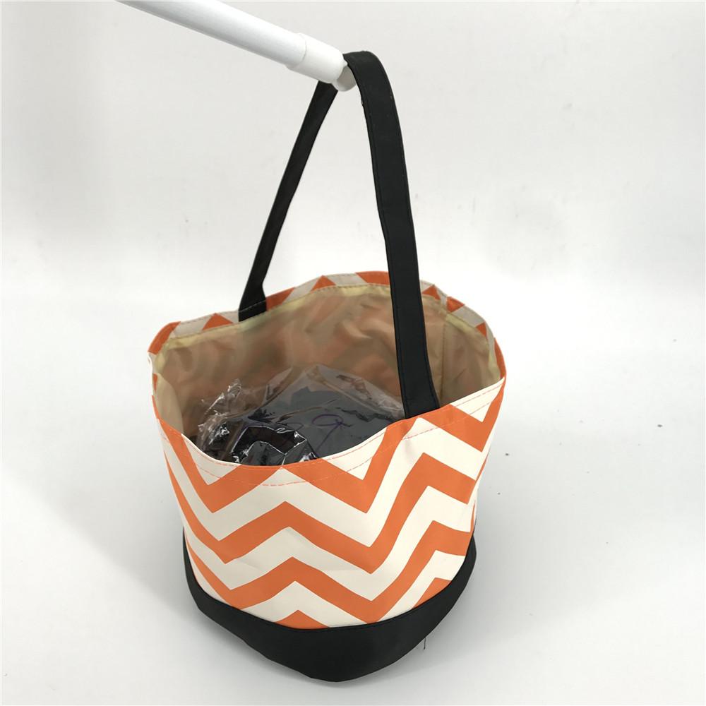 Cheap Factory Sale Chevron Halloween Candy Buckets Tote Bag
