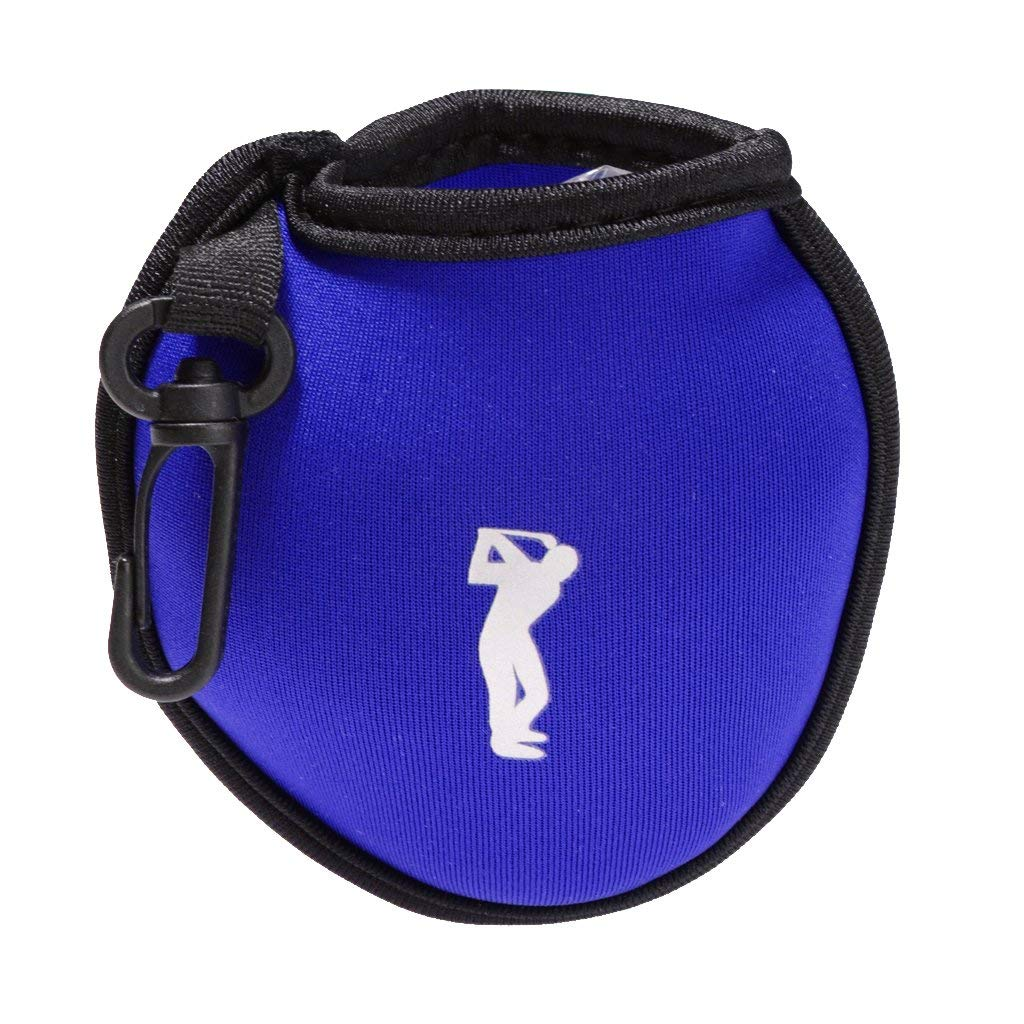Homyl Mini Neoprene Golf Ball Holder Bag Clip On Utility Pouch Outdoor Sports Golfing Accessories