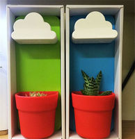Clouds flowerpot Rainy Pot Creative Flowerpot Wall-mounted pots Potted office plants