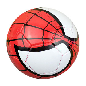 Wholesale Machine Sewing 2018 Customized Super Hero Spider Man Shiny PVC Soccer Ball Size 3