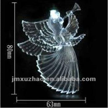 80 mm led horn angel christmas lights string white color
