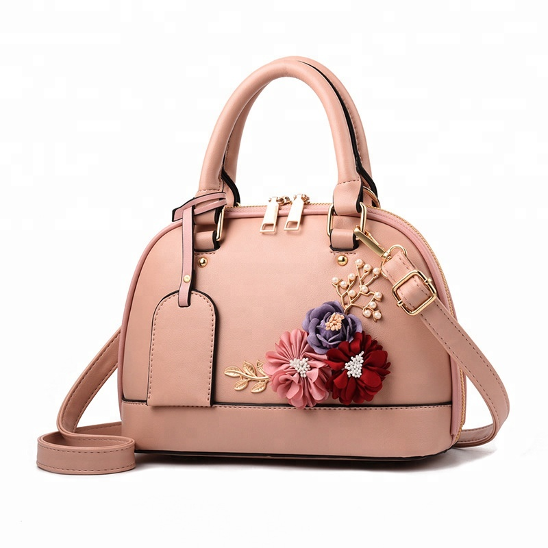 2018 Bags <strong>Women</strong> Leather Handbags Embroidery Fabric Artificial Flower Bag For <strong>Women</strong>