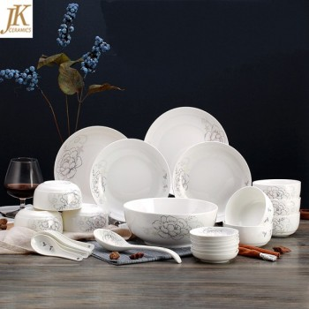 China supplier best dinnerware brands bone china plates wholesale 18pcs white porcelain dinnerware sets : white bone china dinnerware sets - pezcame.com