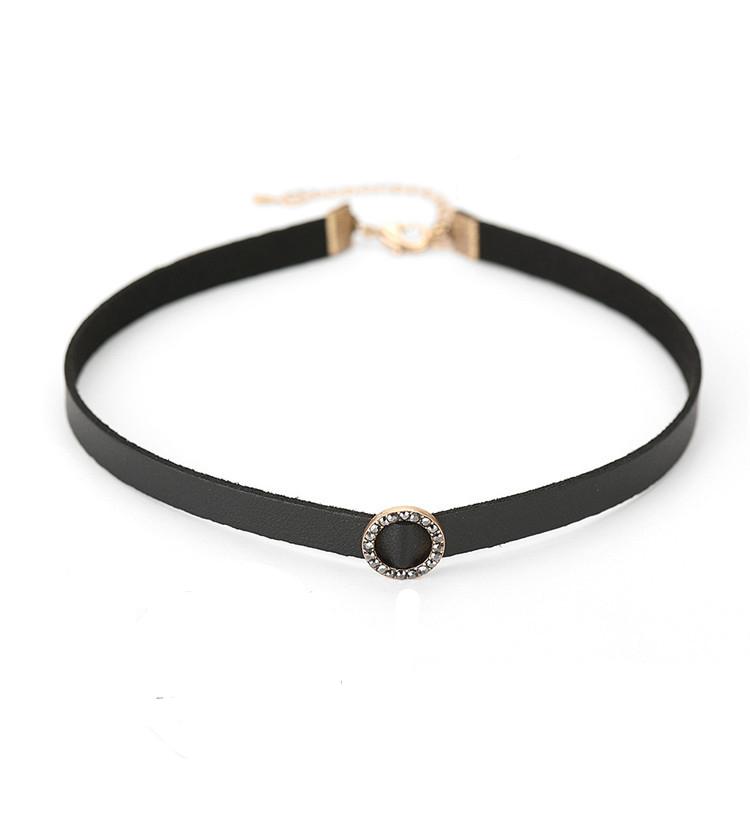 Gargantilla de Diamantes de Imitación Collar de Vendimia Aleación Rhinestone