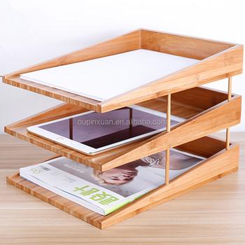 High Quality Handmade Paper File Folder Letter Tray Triple