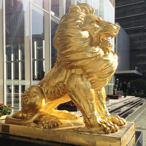 Professional Foundry cast large brass bronze lion statue