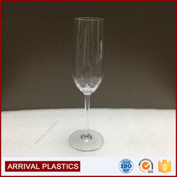 wholesale 200ml 7oz champagne glass clear tall plastic champagne