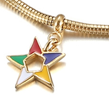 Whole Custom Design Order Of The Eastern Star Charms Masonic Oes Charm For Bracelet Making