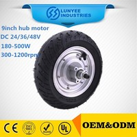 high power 9'' brushless wheel hub motor for electric scooter LY09