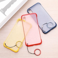 Scratch Resistance Frosted Frame Transparent Mobile Phone Case for iPhone Ultra Thin Back Cover