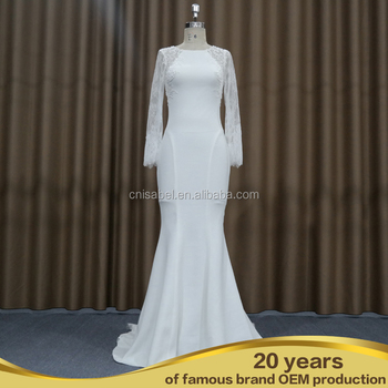 Cut Back Wedding Dress