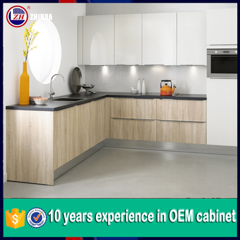 Cheap Kitchen Cabinet Door Lacquer And Melamine Mixed Style New ...