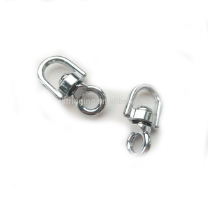 China Supplier rigging claw belt accessory double snap for leather handbag hook D ring and O ring double swivel clasp hooks