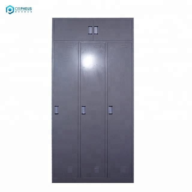 Best Price Home Bedroom Furniture Steel Drawer Almirah Designs 3 Door Hanging Clothes Wardrobe Cabinets With Top Storage Loft
