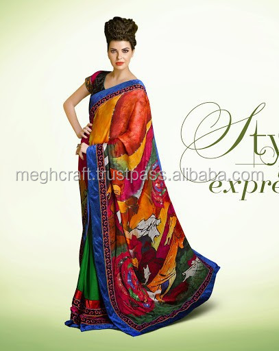 Exclusive Ethnic Indian Latest Bollywood Designer Saree- party wear style Indian saree-wholesale Indian saree