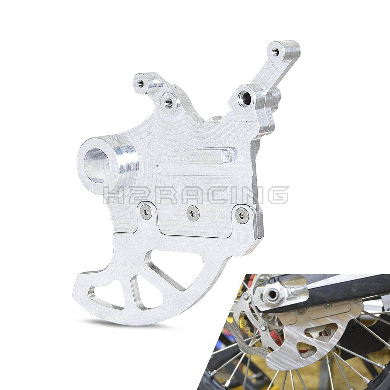 H2RACING Motorcycle Silver Shark Fin Brake Disc Protector Guard Racing Pro For YAMAHA YZ250F YZ450F 2009 2010 2011 2012 2013 2014 2015 2016
