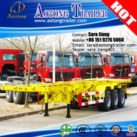 direct factory 40ft 3 axles container semi trailer/Used 40ft container chassis for sale