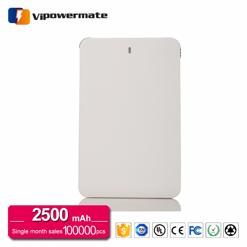 Ultra Thin Credit Card Size Advertising Portable Charger Credit Card Power Bank 2500mah Suppliers In Qatar
