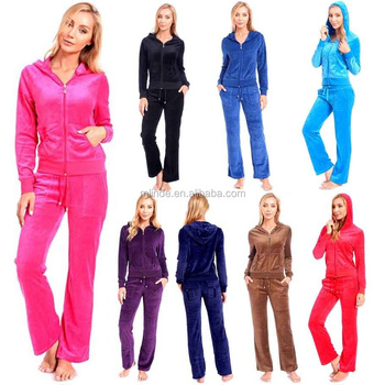 01d5a89967c Women s Italian Sportswear Manufacturers Fitted Athletic Soft Velour Zip Up  Hoodie and Sweat Pants Set Wholesale