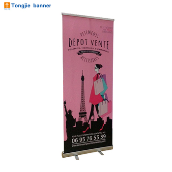 Hot selling ads 80*200cm roll up banner stand
