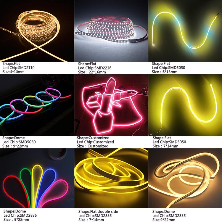 สำหรับทีวี backlight แถบไฟ led 5050smd 24 โวลต์สี rgb เปลี่ยน led นีออนเชือก