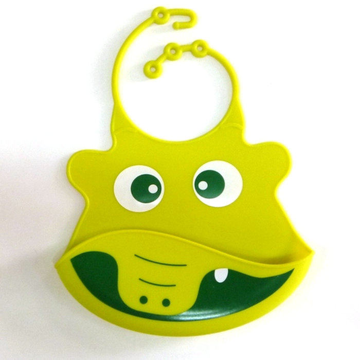 Wholesale Environment Silicone Material Waterproof Baby Bibs With Adjustable Strap