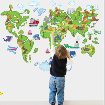 World map sticker through the sgs certification abc1001 adornment world map sticker through the sgs certification abc1001 adornment wall pvc environmental protection materials gumiabroncs Choice Image