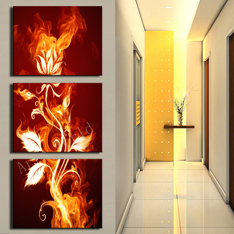 3 Pcs Wall Art Abstract Flower HD Picture Modern Home Decoration Living Room Canvas Print Painting Wall picture canvas picture