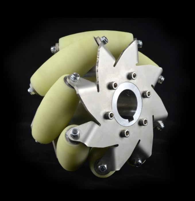 A set 6 Inch Industrial wheel Mecanum wheel with 8 PU Roller(150KG load)