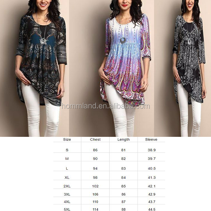 New Arrival Women Floral Loose Top Tunic