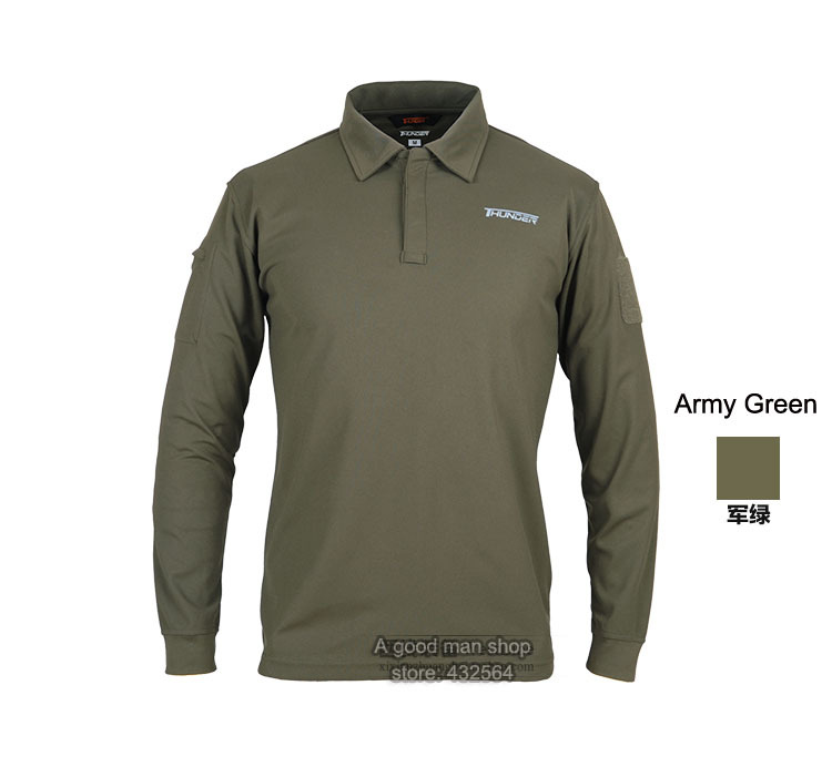 5f94c8af0900 Get Quotations · Outdoor Tactical long-sleeve quick-drying Polo Shirts SWAT  coolmax material light sports wearproof