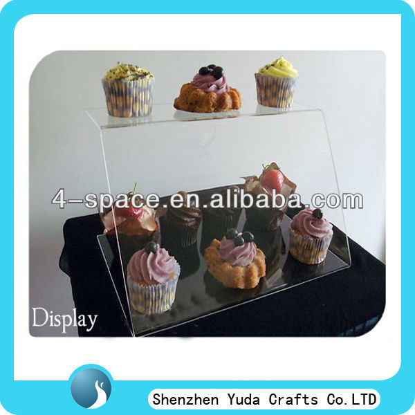 Sneeze guard screen cupcake food display,clear acrylic dust cover