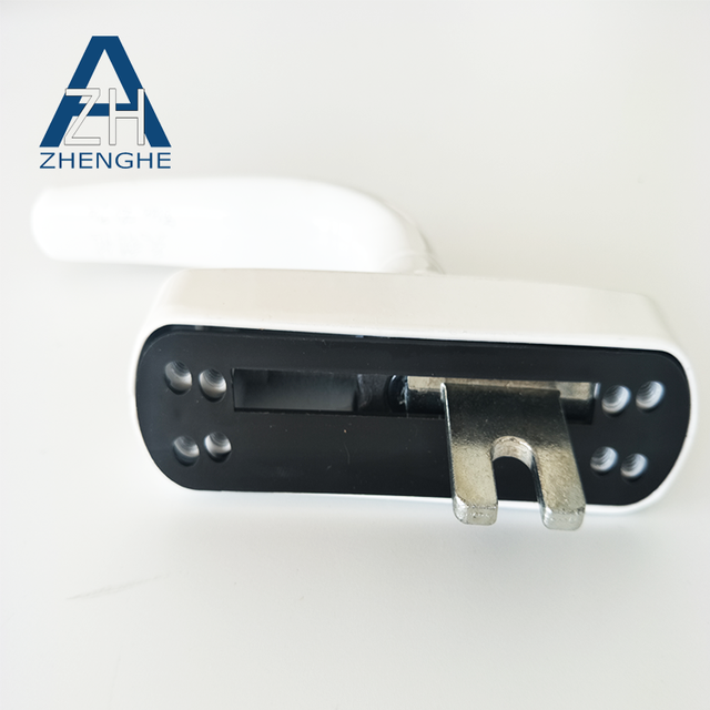 zhenghe white powder coated aluminium hardware upvc window handle