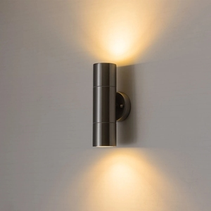 Up and down outdoor Stainless Steel waterproof led wall light with GU10 bulb