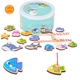 Cute Magnetic Kids Fishing Toys Wooden fishing game toys