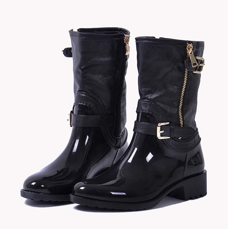 femmes de pluie jours chaussures mi mollet martin bottes de pluie chaussures de jardin en. Black Bedroom Furniture Sets. Home Design Ideas