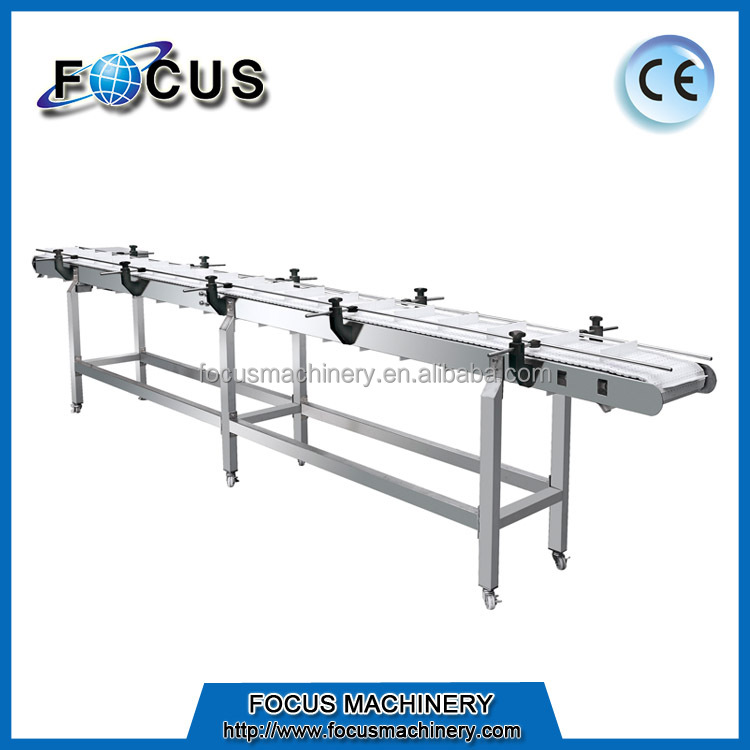 Good price horizontal PP chain belt conveyor equipment