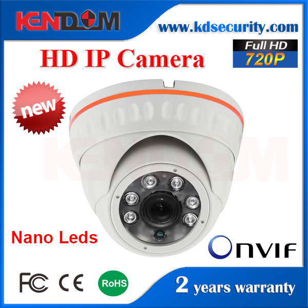 New White Nano Leds Dome IP camera Onvif vandal proof IP camera H.264 full HD IR 1 Megapixel CCTV Cameras
