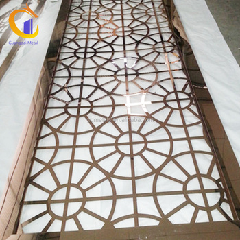 Stainless Steel Lattice Garden Room Divider Metal Laser Cut Screen Panel For Outdoor
