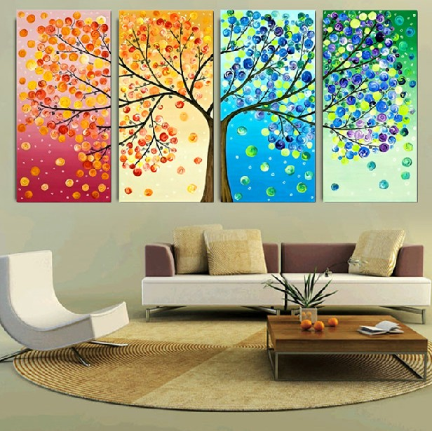 24698e1967 Newest 2016 Cotton Printing 3d cross stitch Kits Lucky Money Tree Embroidery  Set Needlework 4 pieces/lot Big Picture With Tools