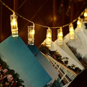 Custom LED House Christmas 10L Transparent Photo Clip Decoration String Light in Bulk